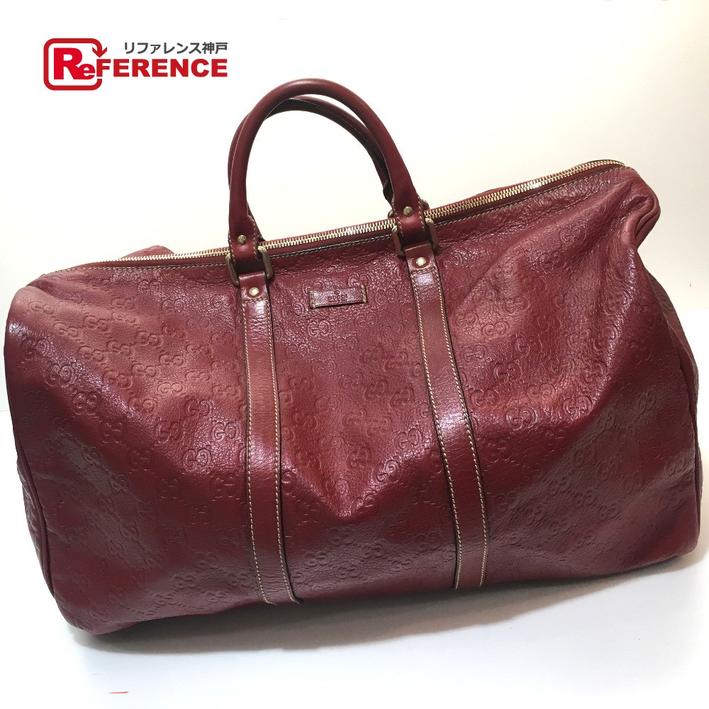 0531fa65331 GUCCI Gucci 206501 men s lady s handbag Gucci sima Boston bag leather red  unisex