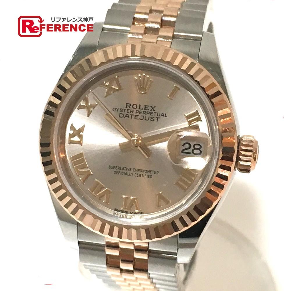 ROLEX ロレックス 279171 レディース腕時計 デイトジャスト コンビ オイスターパーペチュアル 腕時計 K18PG/SS ピンクゴールド レディース 新品同様【中古】