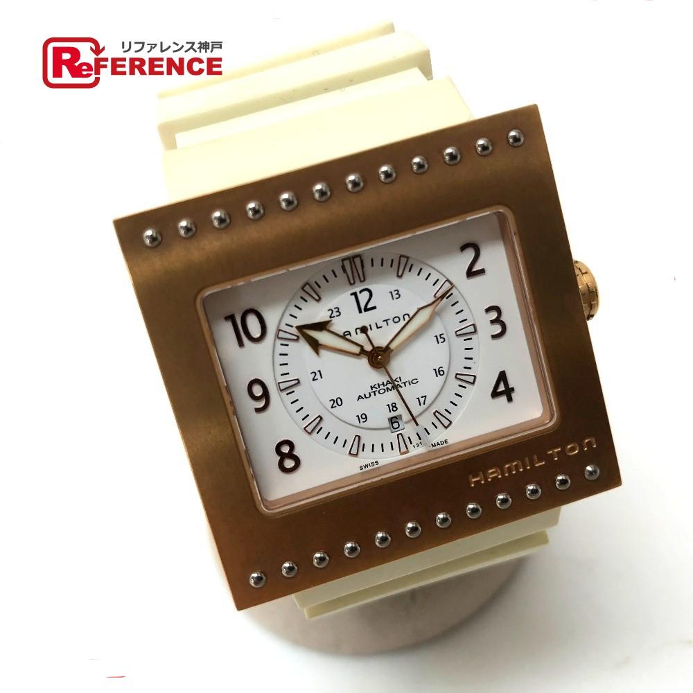 HAMILTON ハミルトン H795450 コードブレーカー 腕時計 チタン/ラバーベルト ゴールド メンズ【中古】