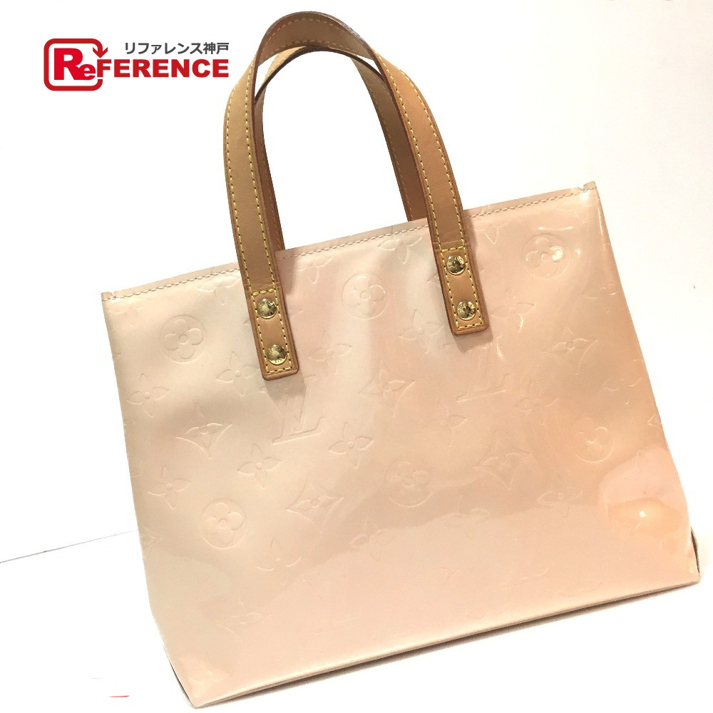 174ada15bd AUTHENTIC LOUIS VUITTON Monogram-Vernis Lead PM Hand Bag Tote Bag Baby pink Patent  Leather ...