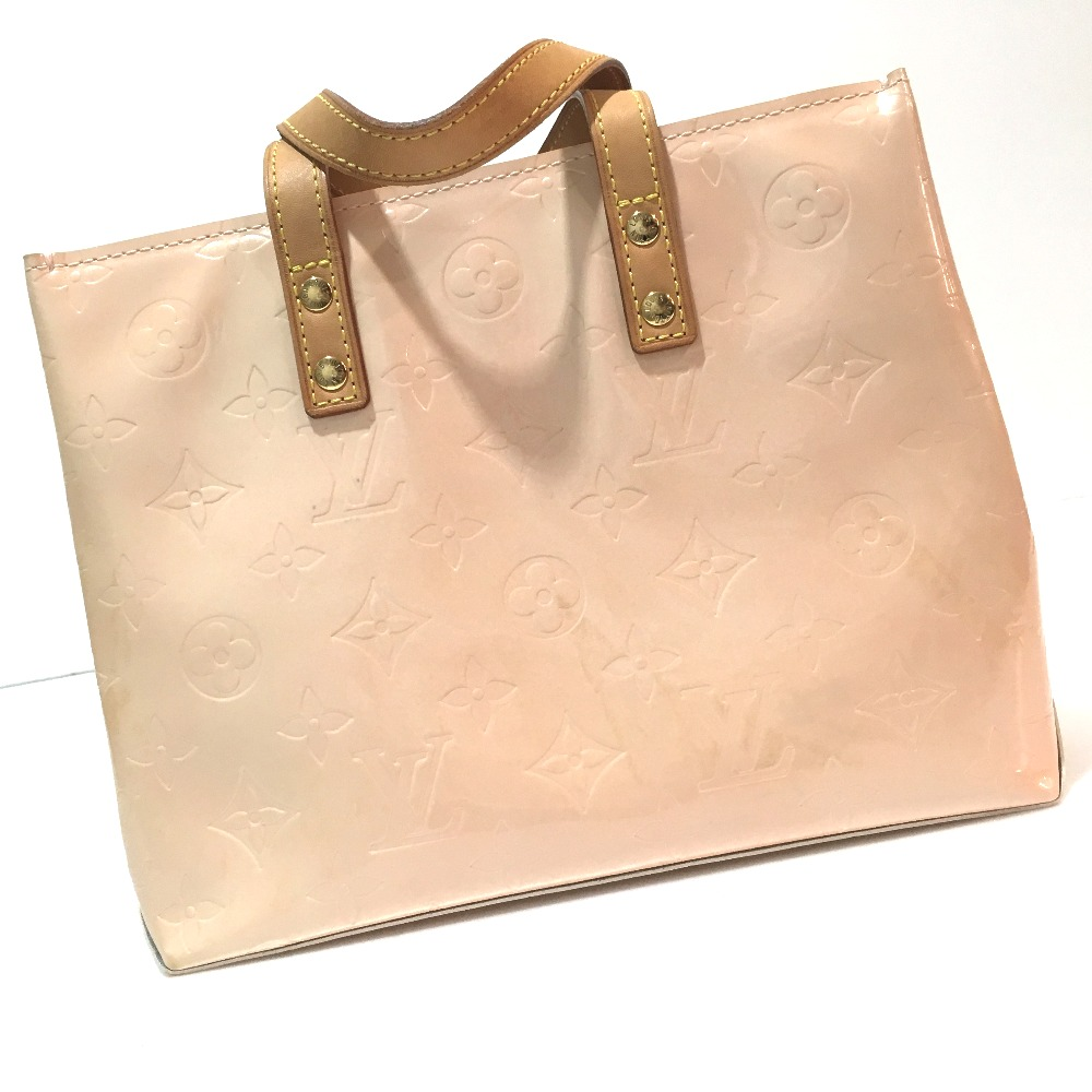a03e792acd ... AUTHENTIC LOUIS VUITTON Monogram-Vernis Lead PM Hand Bag Tote Bag Baby  pink Patent Leather ...