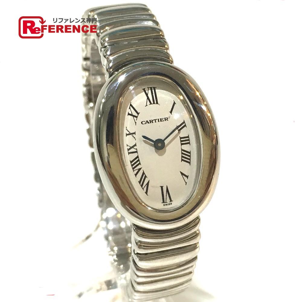 CARTIER カルティエ W15189L2 レディース腕時計 ミニ ベニュワール 腕時計 K18WG ホワイトゴールド レディース【中古】