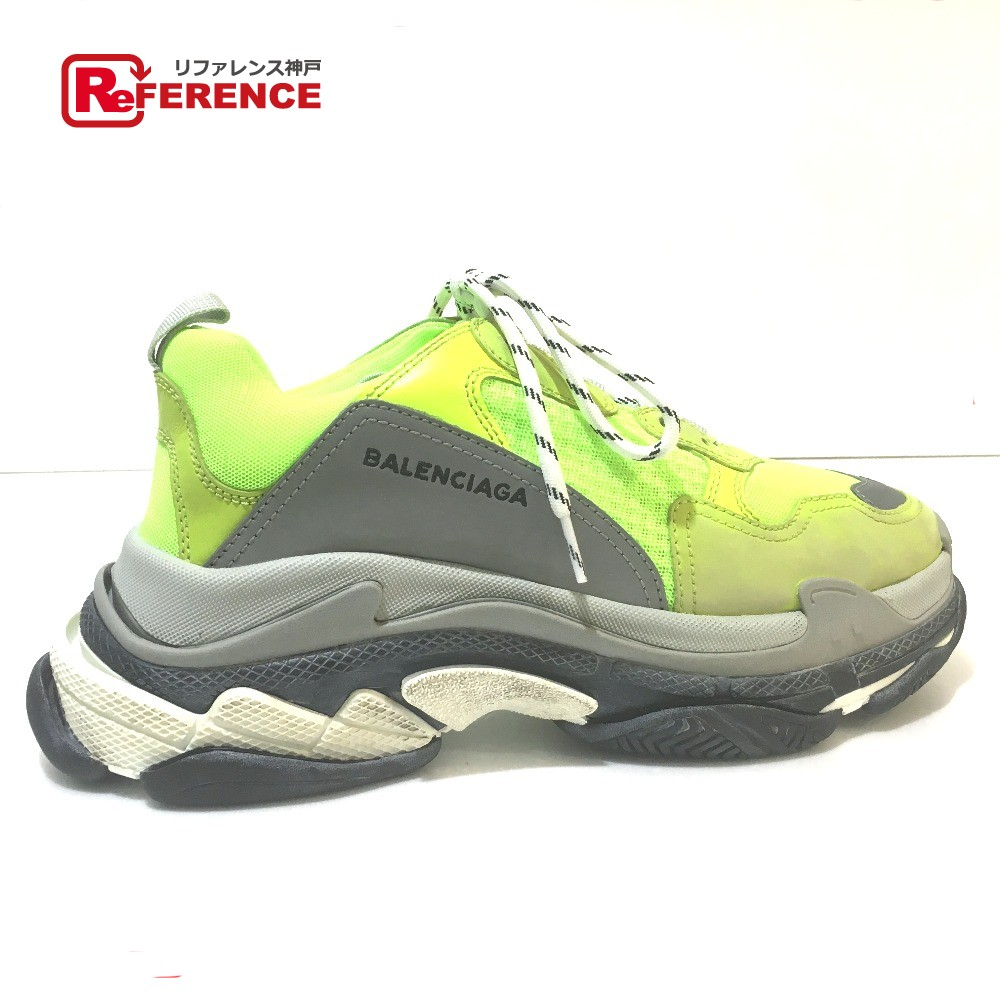 AUTHENTIC BALENCIAGA Unused Men s shoes Triple S shoes Used processing  Triple S trainer 2018ss sneakers yellow a813e7a68024