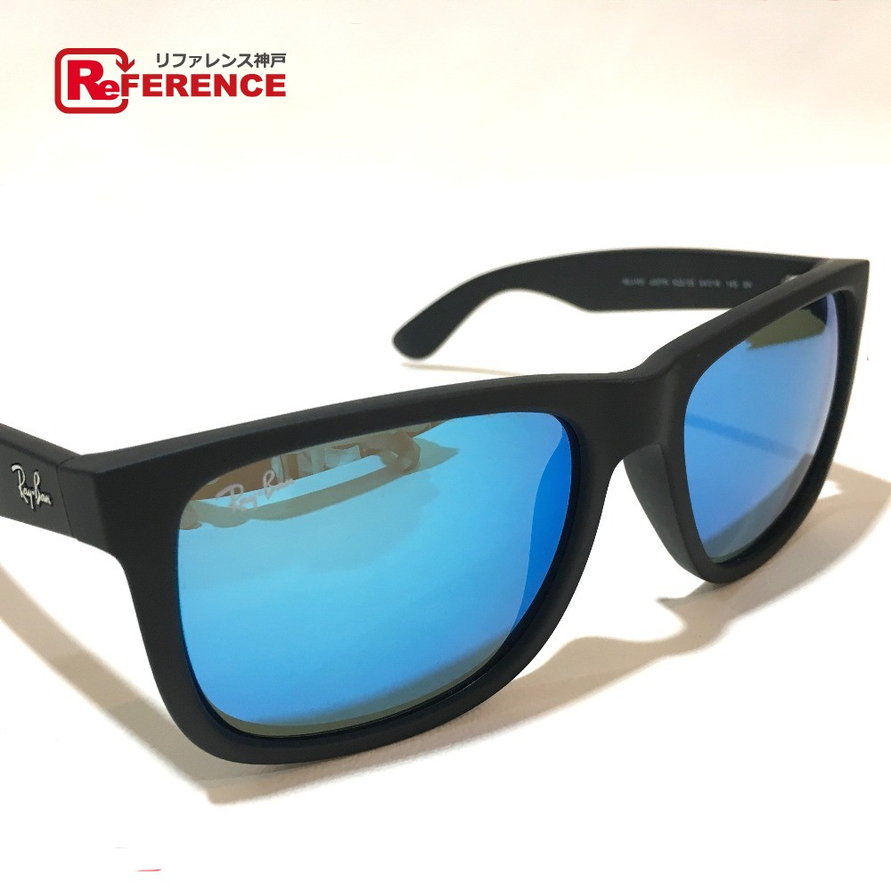 0210d19b3dd53 AUTHENTIC Ray-Ban Blue lens Men s Women s sunglasses Black Plastic RB4165