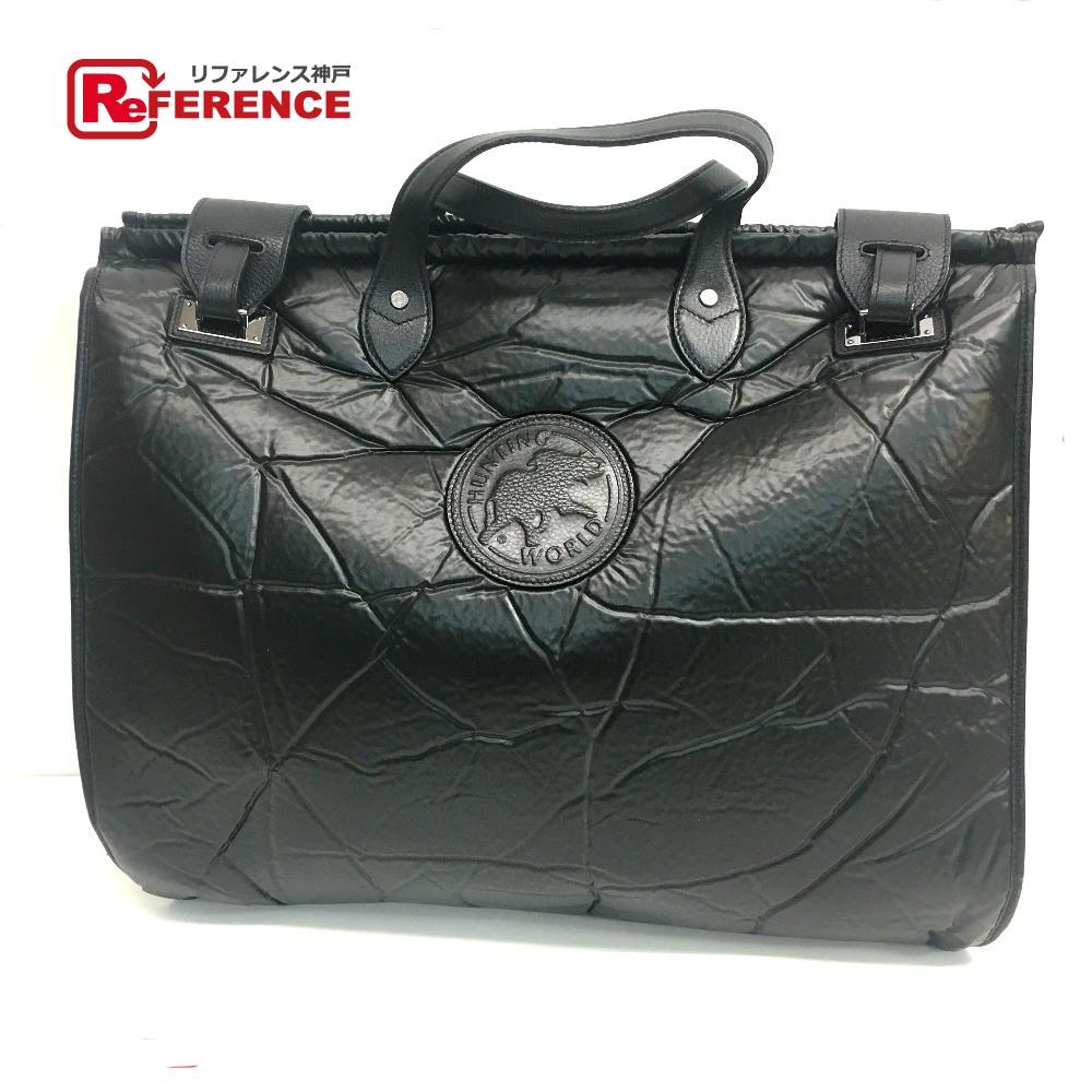 HUNTING WORLD ハンティングワールド ビジネスバッグ ハンドバッグ バチュークロス ブラック メンズ【中古】