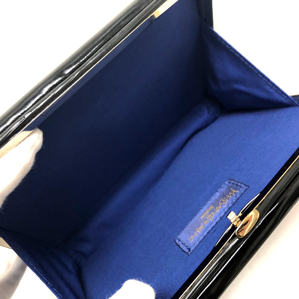 AUTHENTIC YVES SAINT LAURENT YSL Clutch bag Cosmetics case Cosmetics Pouch  Pouch Black Patent Leather  75658f20faf7c
