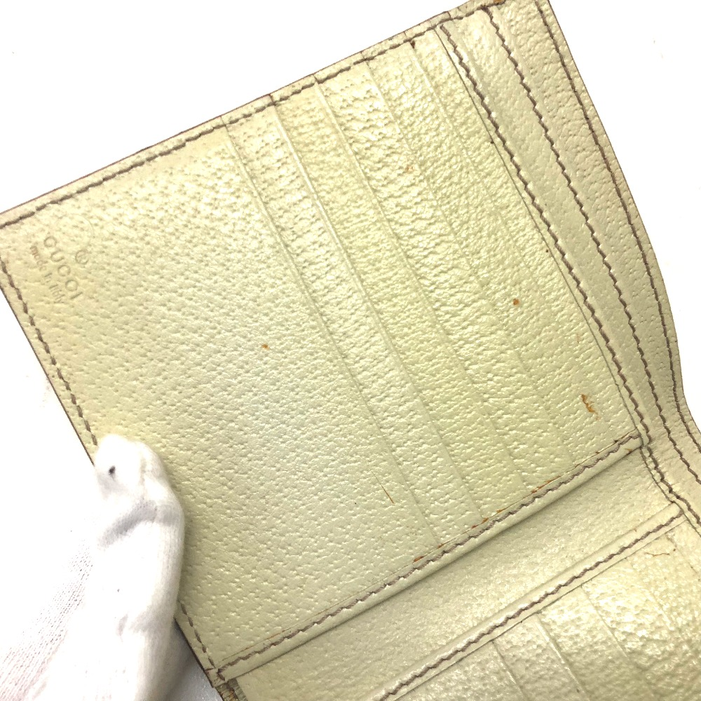 2fd55df90066 AUTHENTIC GUCCI Techno charm CHARMY (Charmy) Double Snap Wallet Bifold Wallet  Pigskin/silk 154117