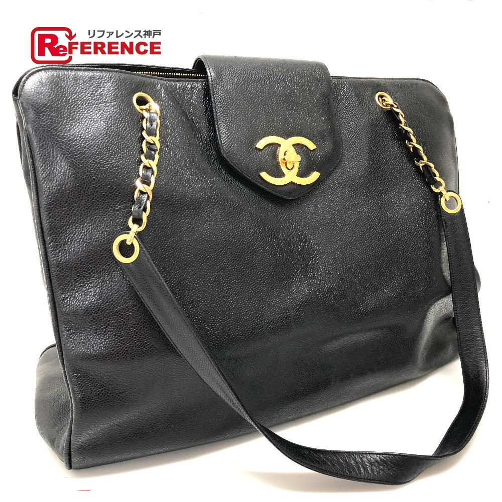 a7a20d8106ff AUTHENTIC CHANEL Super model bag CC Caviar Leather Chain Bag Tote Bag  Shoulder Bag Black Caviar ...