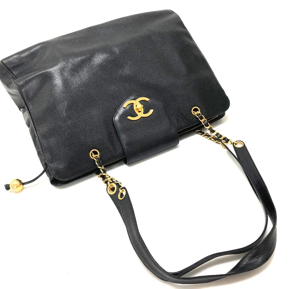 AUTHENTIC CHANEL Super model bag CC Caviar Leather Chain Bag Tote Bag  Shoulder Bag Black Caviar Leather  1ae78059d6a01