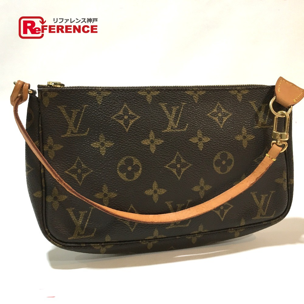 739b0f1c60a6 AUTHENTIC LOUIS VUITTON Monogram Pochette-Accessoires Hand Bag Accessory  pouch MonogramCanvas M40712