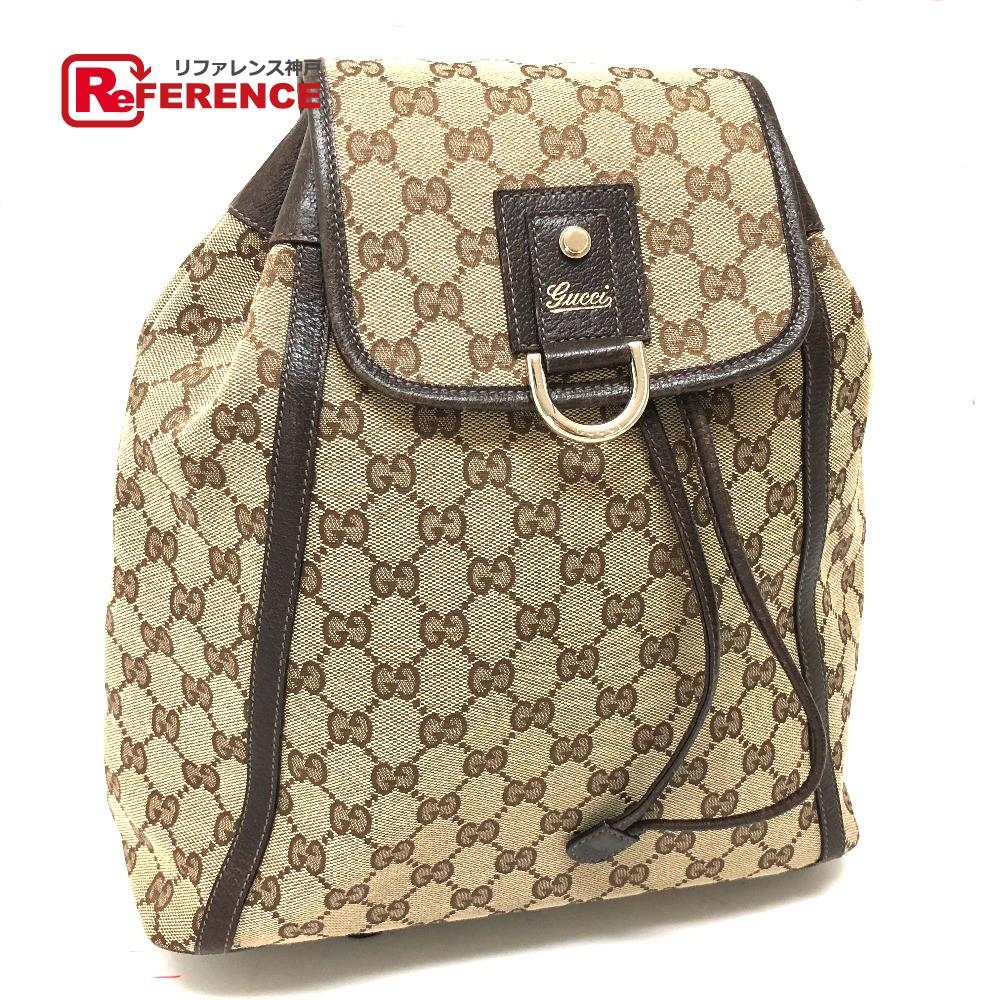 BRANDSHOP REFERENCE  AUTHENTIC GUCCI Abby Backpack Backpack Backpack -  Daypack Beige GGCanvasxLeather  141642   Rakuten Global Market c7fc16541e
