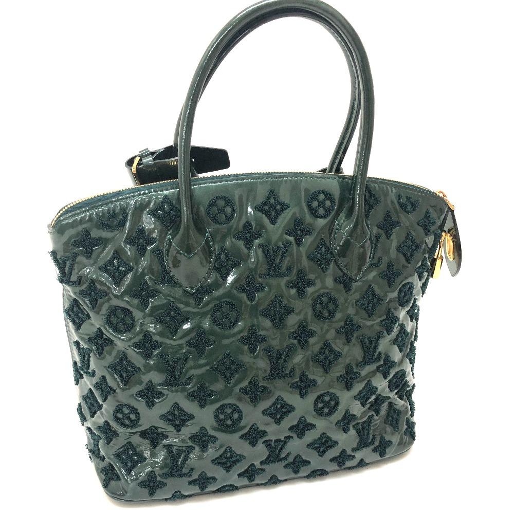 BRANDSHOP REFERENCE  AUTHENTIC LOUIS VUITTON Monogram Fascination Lockit  Tote Bag Hand Bag Green enamel  M40600  c1e24fe02b3d2