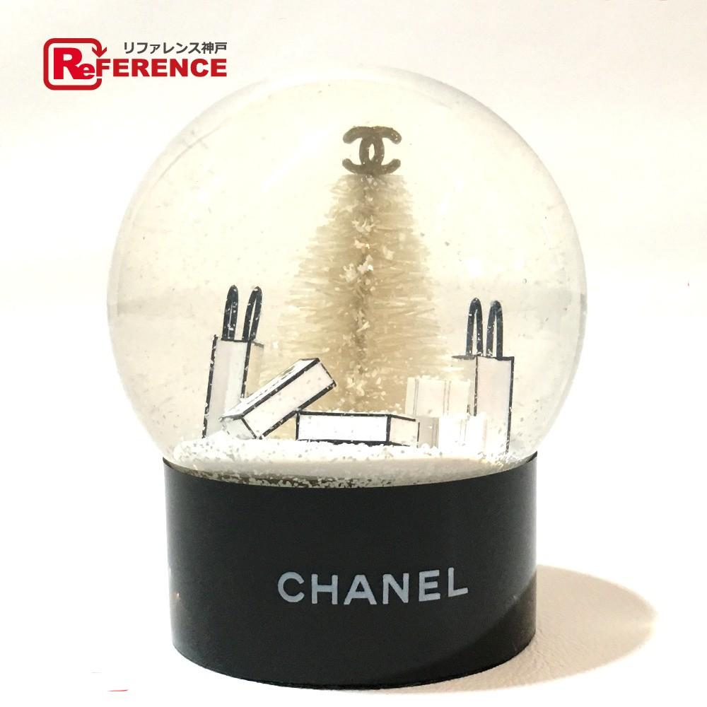 CHANEL シャネル メンズ レディース 2012年VIP限定ノベルティ ミニ スノードーム オブジェ クリア ユニセックス 新品同様【中古】