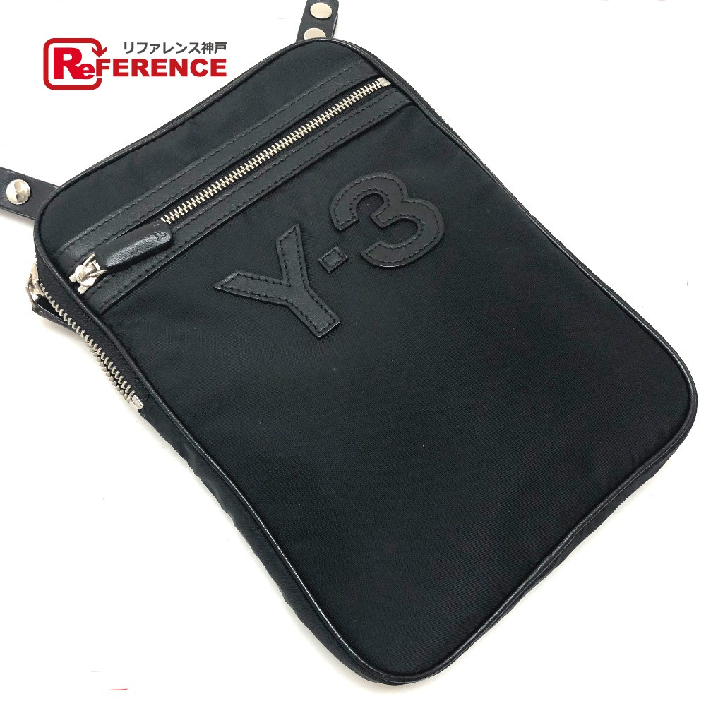 Y-3 ワイスリー ポシェット adidas アディダス Yohji Yamamoto ヨージヤマモトコラボ ショルダーバッグ ナイロン/ ブラック メンズ【中古】
