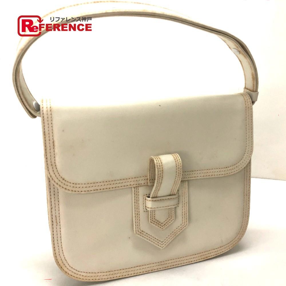 4fc0df9eb1a YVES SAINT LAURENT Yves Saint-Laurent tote bag vintage YSL shoulder bag  leather / white ...