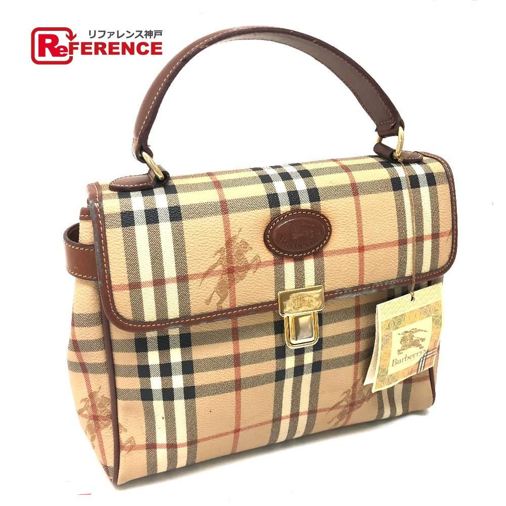 AUTHENTIC BURBERRY NOVA CHECK 2 WAY Bag Shoulder Bag Tote Bag Hand Bag  Beige series PVC x Leather  400edffa1c