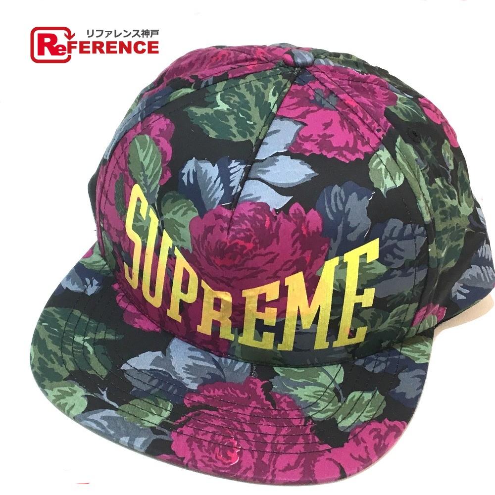 Supreme シュプリーム メンズ レディース フローラル キャップ 帽子 ブラック ユニセックス 未使用【中古】