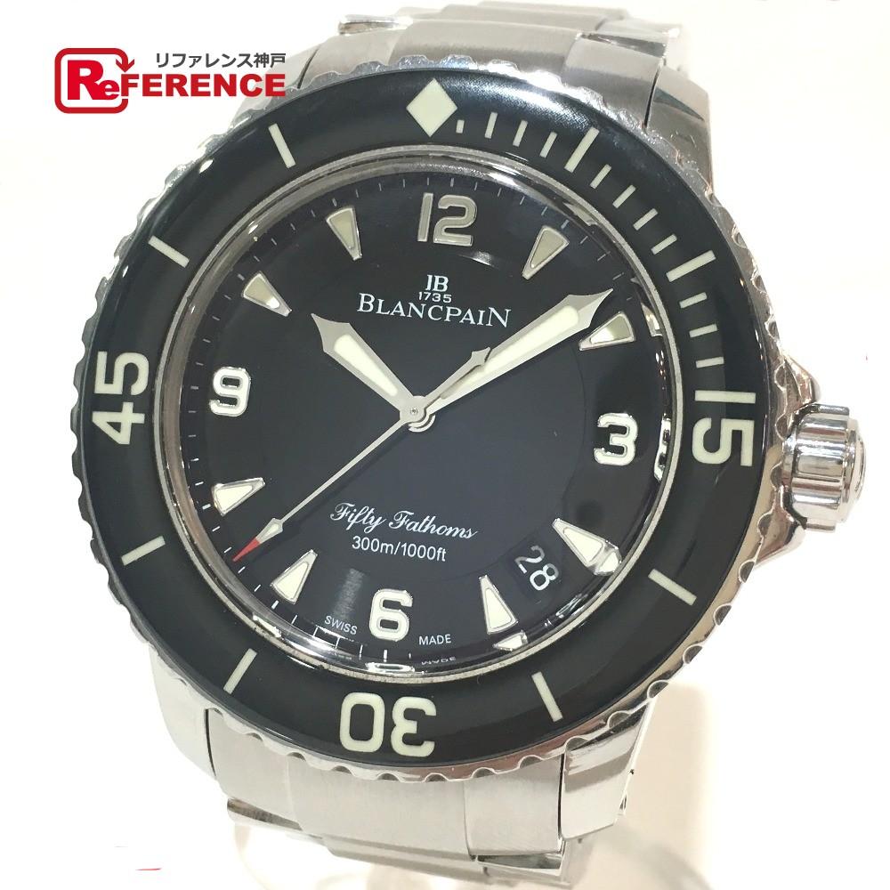 Blancpain ブランパン 5015.1130.52 メンズ腕時計 フィフティ ファゾムス デイト 腕時計 SS シルバー メンズ【中古】