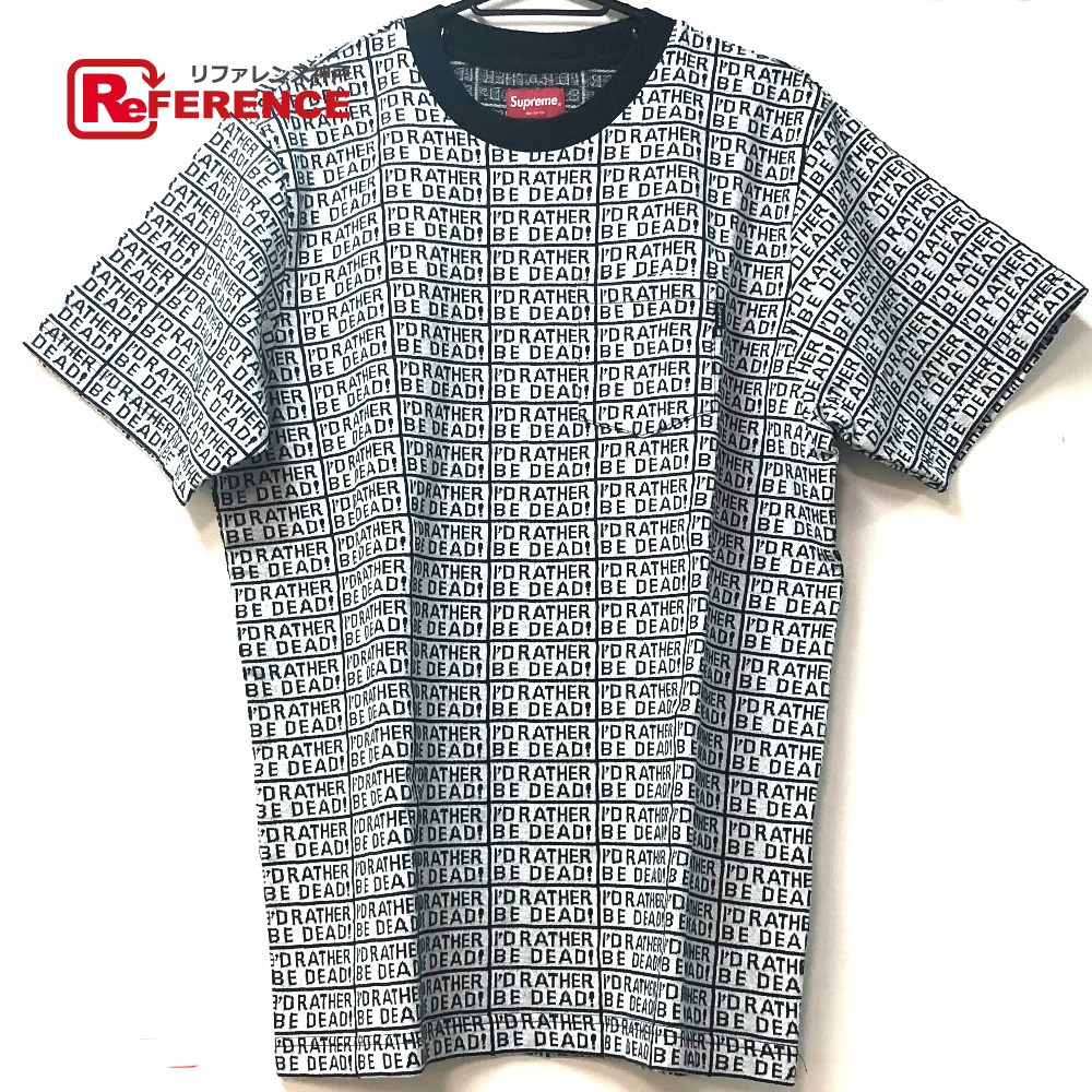 Supreme シュプリーム トップス  総柄 Rather Be Dead S/S Jacquard Top 17SS 半袖Tシャツ コットン/ ホワイト メンズ 新品同様【中古】
