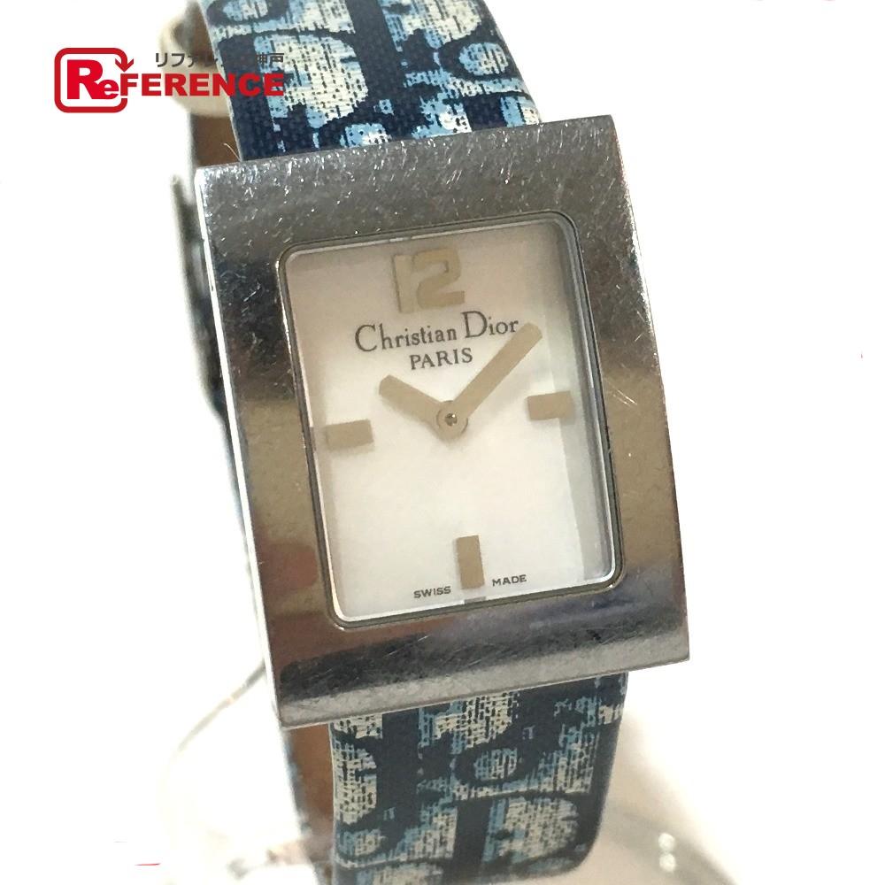 Christian Dior クリスチャンディオール D78-109 レディース腕時計 マリス トロッター 腕時計 SS/革ベルト シルバー レディース【中古】