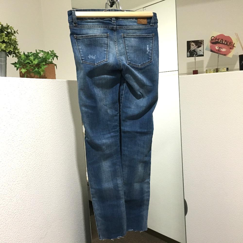 90f7fc321e4b3 AUTHENTIC ZARA jeans Damage processing apparel Denim Pants blue
