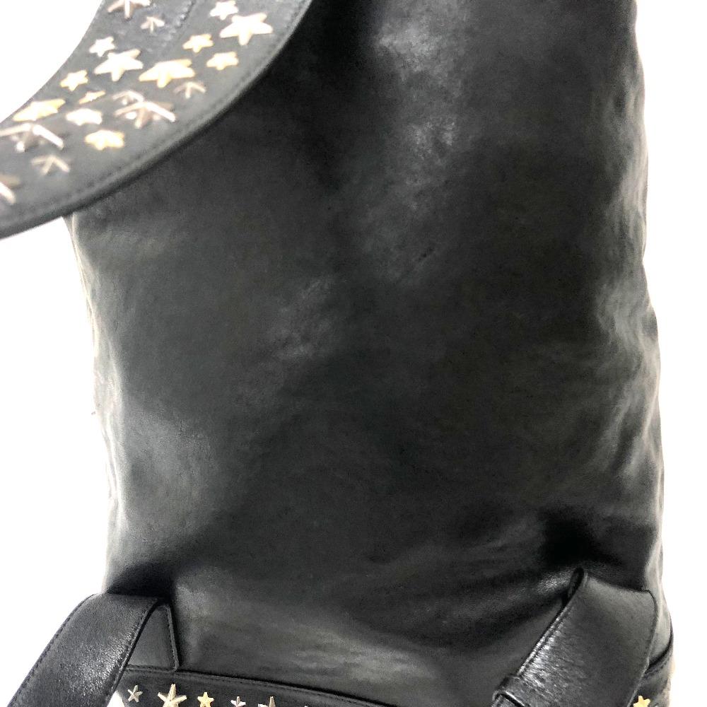 JIMMY CHOO ジミーチュウ  リュックサック バックパック メンズ レディース FITZROY BLS スタースタッズ リュック・デイパック レザー ブラック レディース【】