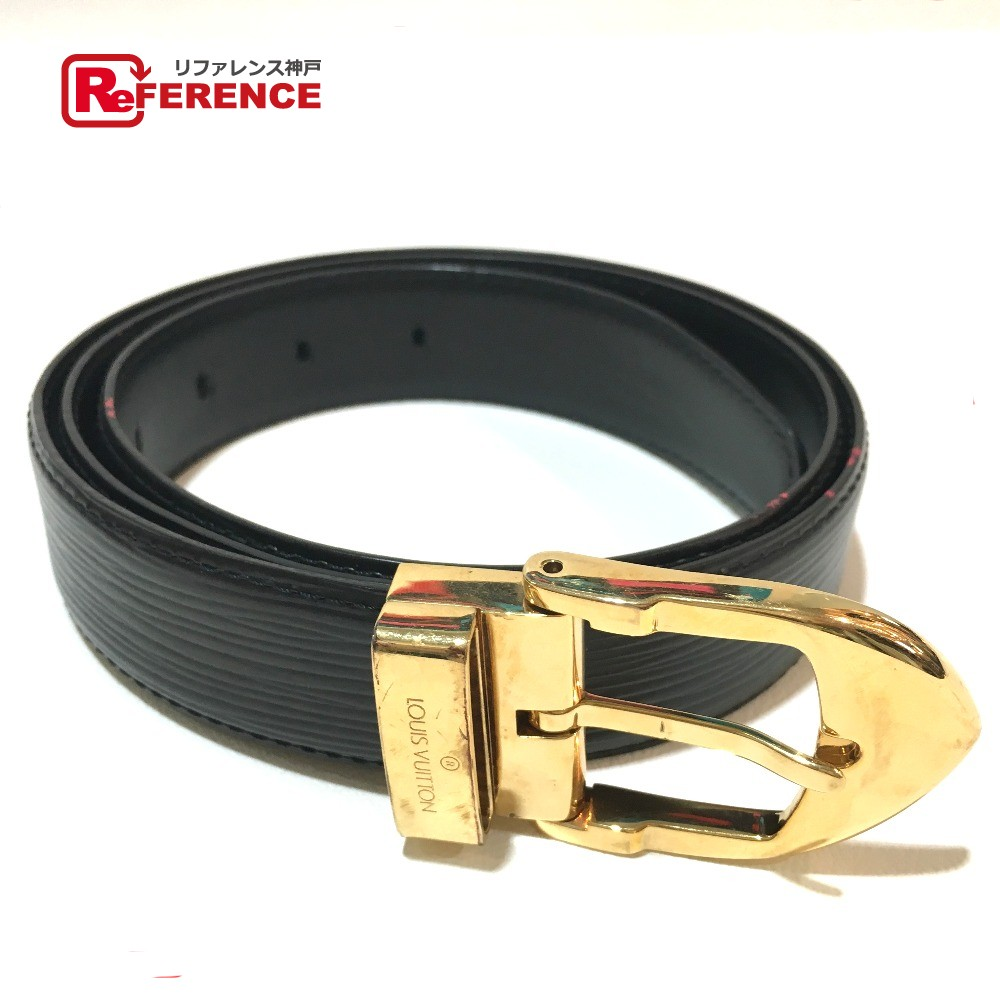 AUTHENTIC LOUIS VUITTON Epi Ceinture - classic belt Noir GoldHardware Epi  Leather M6832 6bae2c82b20