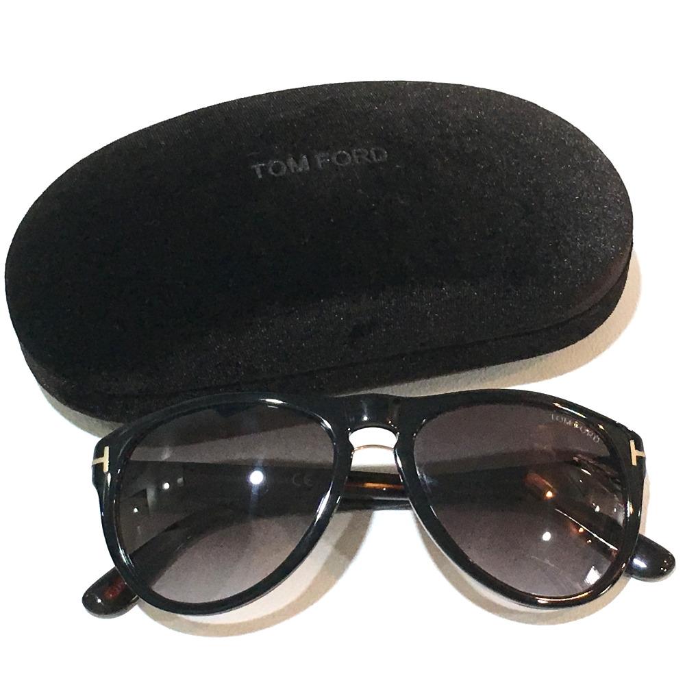 5acecbd943 AUTHENTIC TOM FORD Franklin Men s Women s sunglasses Black Plastic TF347 01V