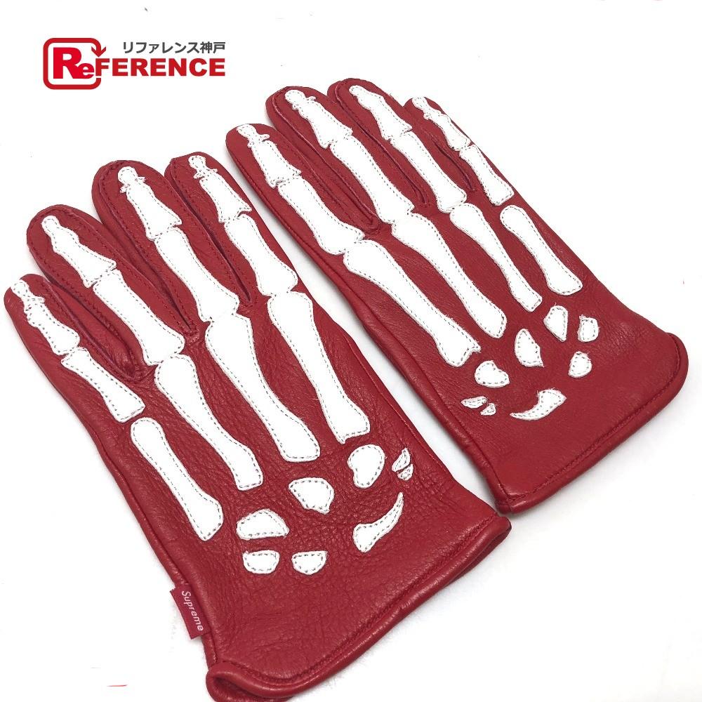 Supreme シュプリーム FW12A2 手袋 X-Ray Gloves バンソン VANSON コラボ グローブ レザー/ レッド メンズ 未使用【中古】