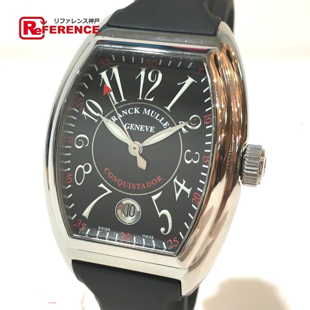 憧れ FRANCK MULLER フランクミュラー MULLER 8005HSC メンズ腕時計 新品同様【】 コンキスタドール 腕時計 SS/ラバーベルト メンズ シルバー メンズ 新品同様【】, くらし屋:fe585335 --- baecker-innung-westfalen-sued.de