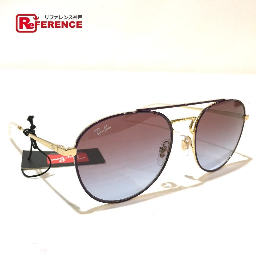 Ray-Ban レイバン RB3589 メンズ レディース サングラス プラスチック パープルxゴールド ユニセックス 未使用【中古】