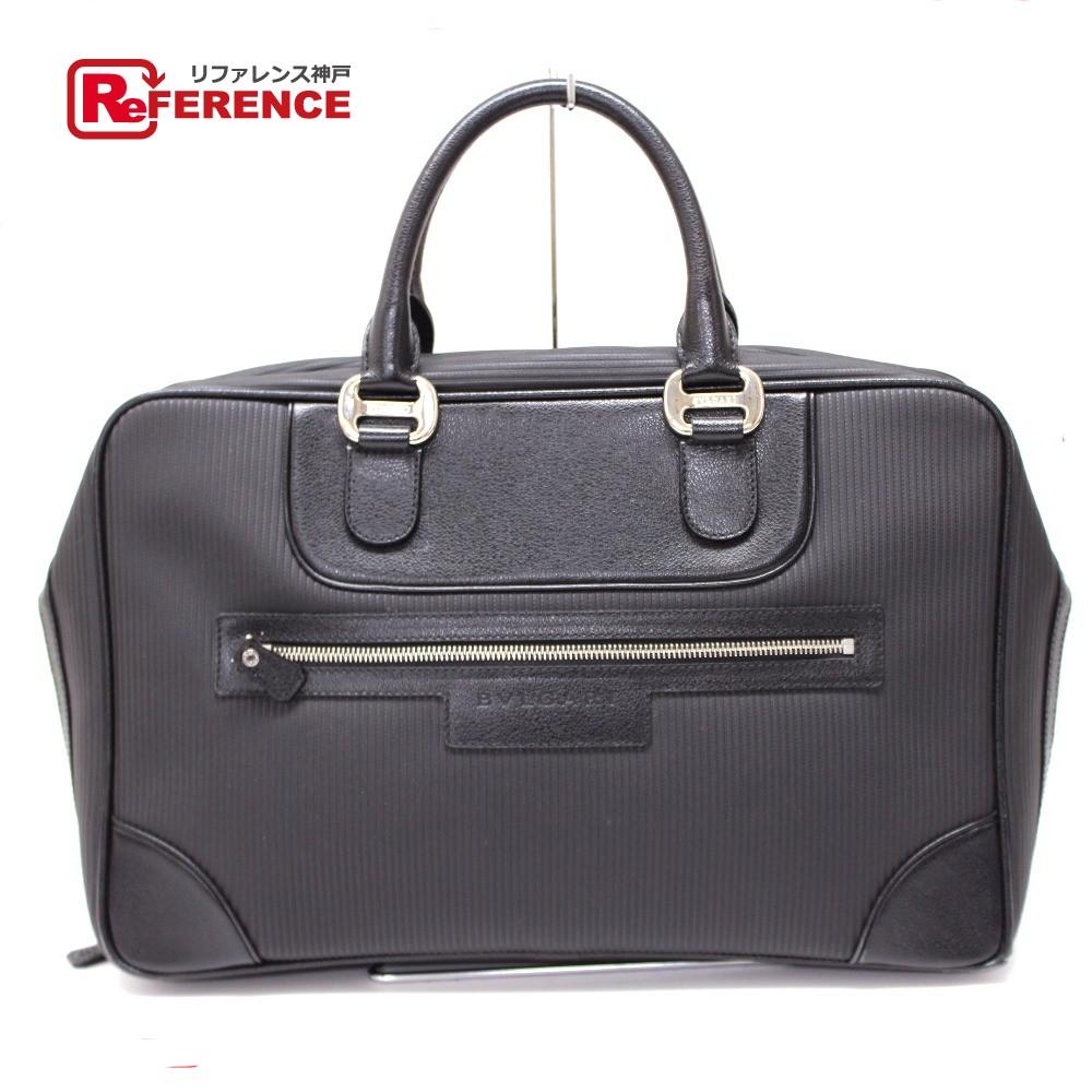 BVLGARI ブルガリ 29648 ブリーフケース ミレリゲ ビジネスバッグ PVC×レザー ブラック メンズ【中古】