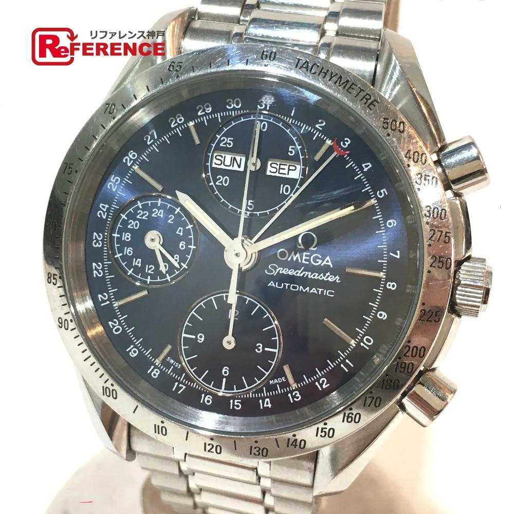 OMEGA オメガ 3521.80 メンズ腕時計 スピードマスター クロノグラフ トリプルカレンダー 腕時計 SS シルバー メンズ【中古】