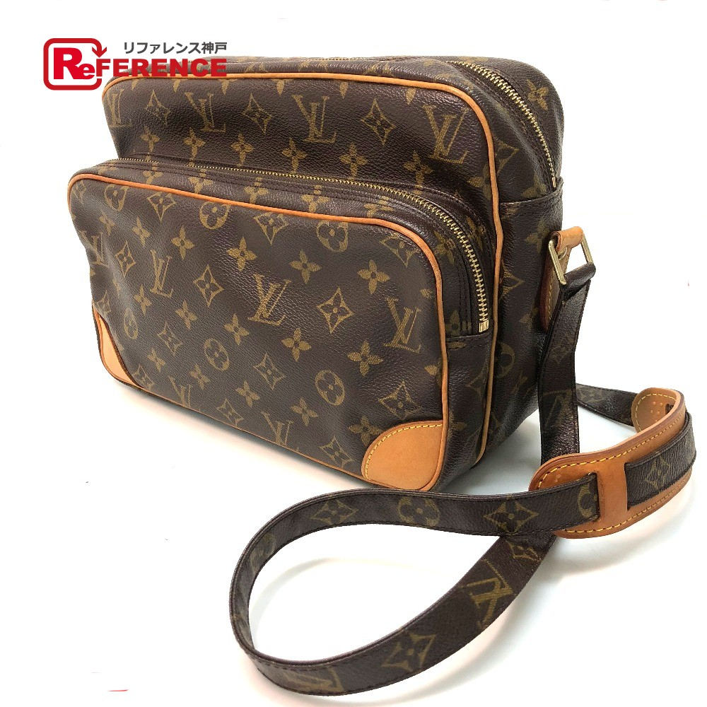 a7fa613d7d64 AUTHENTIC LOUIS VUITTON Monogram Nile Crossbody Shoulder Bag Shoulder Bag  Brown MonogramCanvas M45244