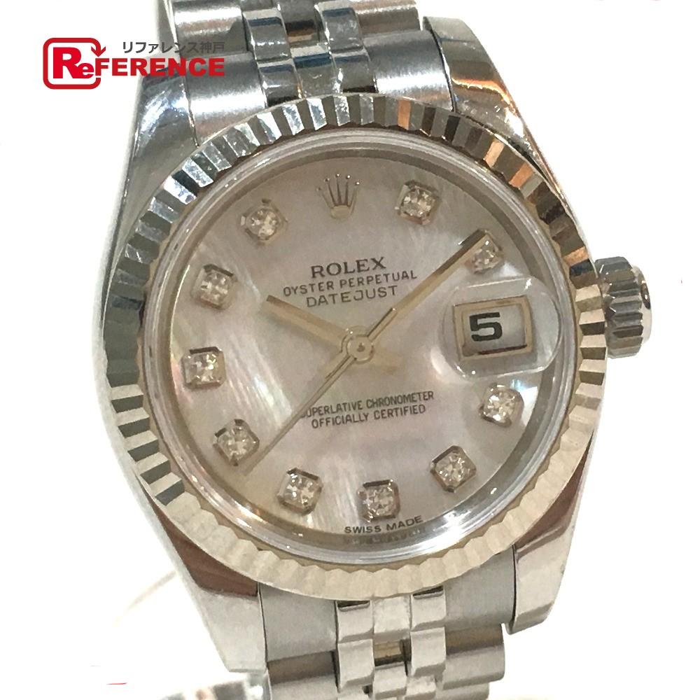 ROLEX ロレックス 179174NG レディース腕時計 デイトジャスト 10Pダイヤ 腕時計 SS/K18WG ホワイトゴールド レディース【中古】
