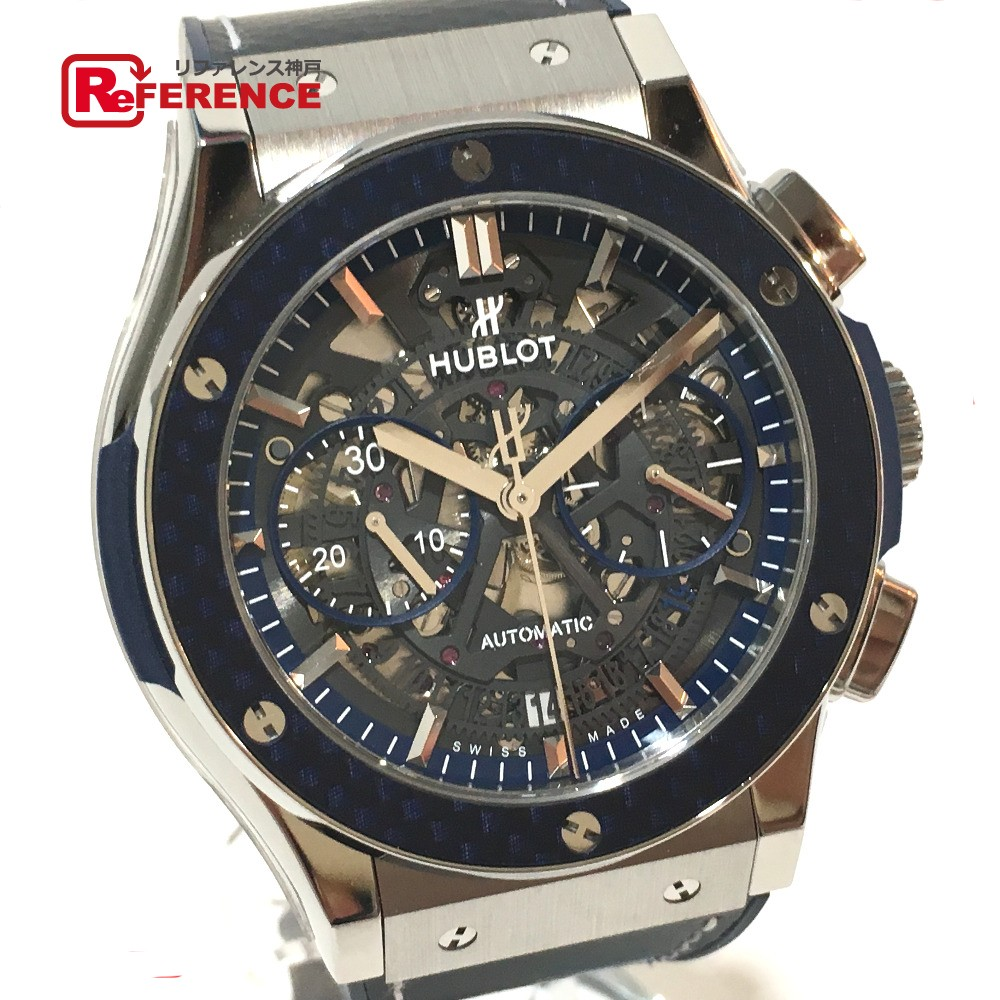 HUBLOT ウブロ 525.NQ.0120.QR.MTK17 メンズ腕時計 田中将大モデル 日本限定88本 アエロ・フュージョン 腕時計 チタニウム/カーボン シルバー メンズ 未使用【中古】