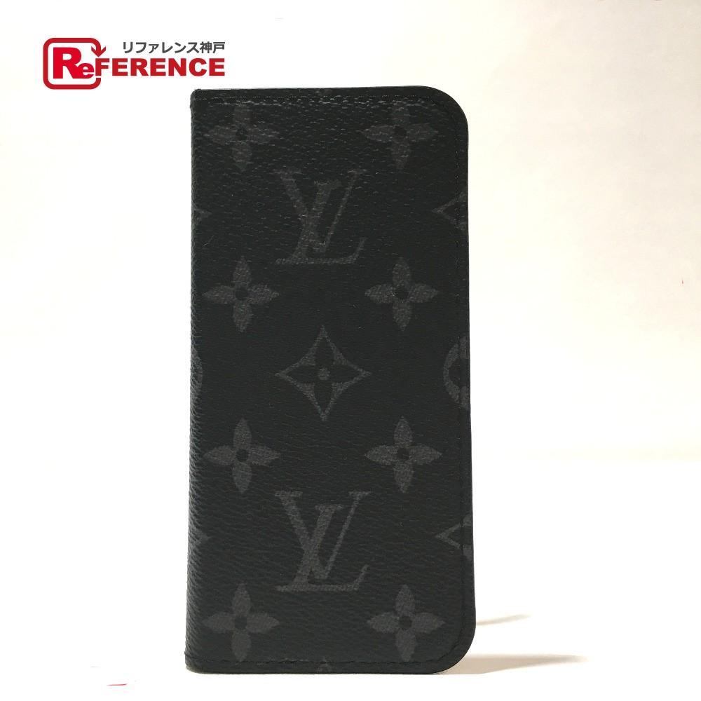 LOUIS VUITTON ルイ・ヴィトン M62640 メンズ レディース iphone7・フォリオ モノグラムエクリプス iPhoneケース モノグラム・キャンバス エクリプス ユニセックス【中古】