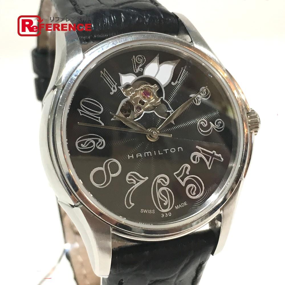 HAMILTON ハミルトン H323950 レディース腕時計 ジャズマスター オートレディ 腕時計 SS/革ベルト シルバー レディース【中古】