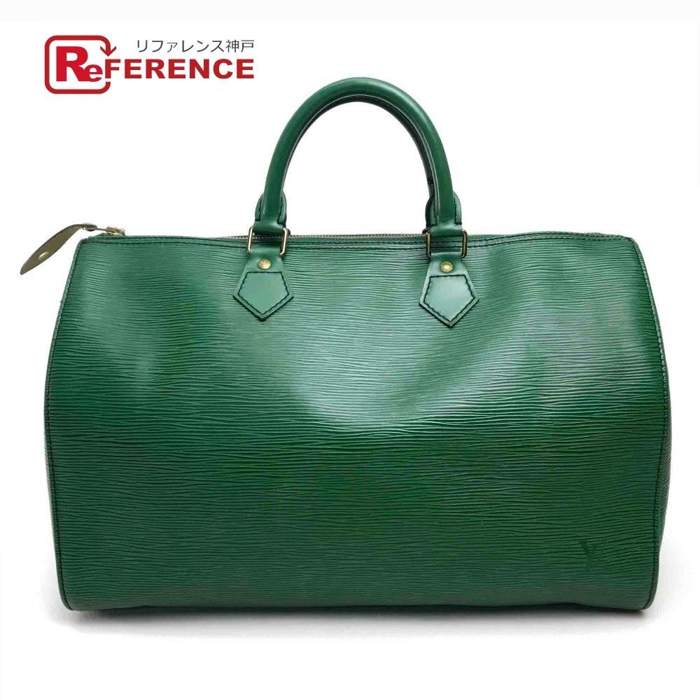 c9861583d5b1 AUTHENTIC LOUIS VUITTON Epi Speedy 35 Mini Boston Hand Bag Hand Bag Green  Epi Leather M42994