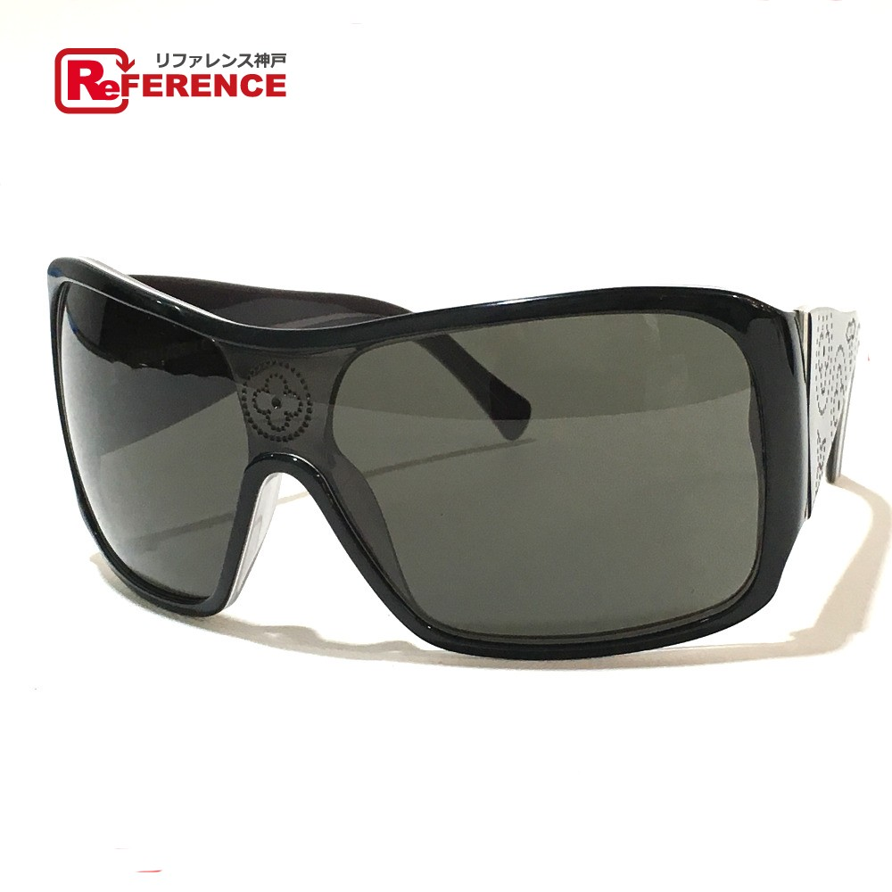 f7f4cce7c0 LOUIS VUITTON Louis Vuitton Z0172E men gap Dis monogram sunglasses plastic  black unisex