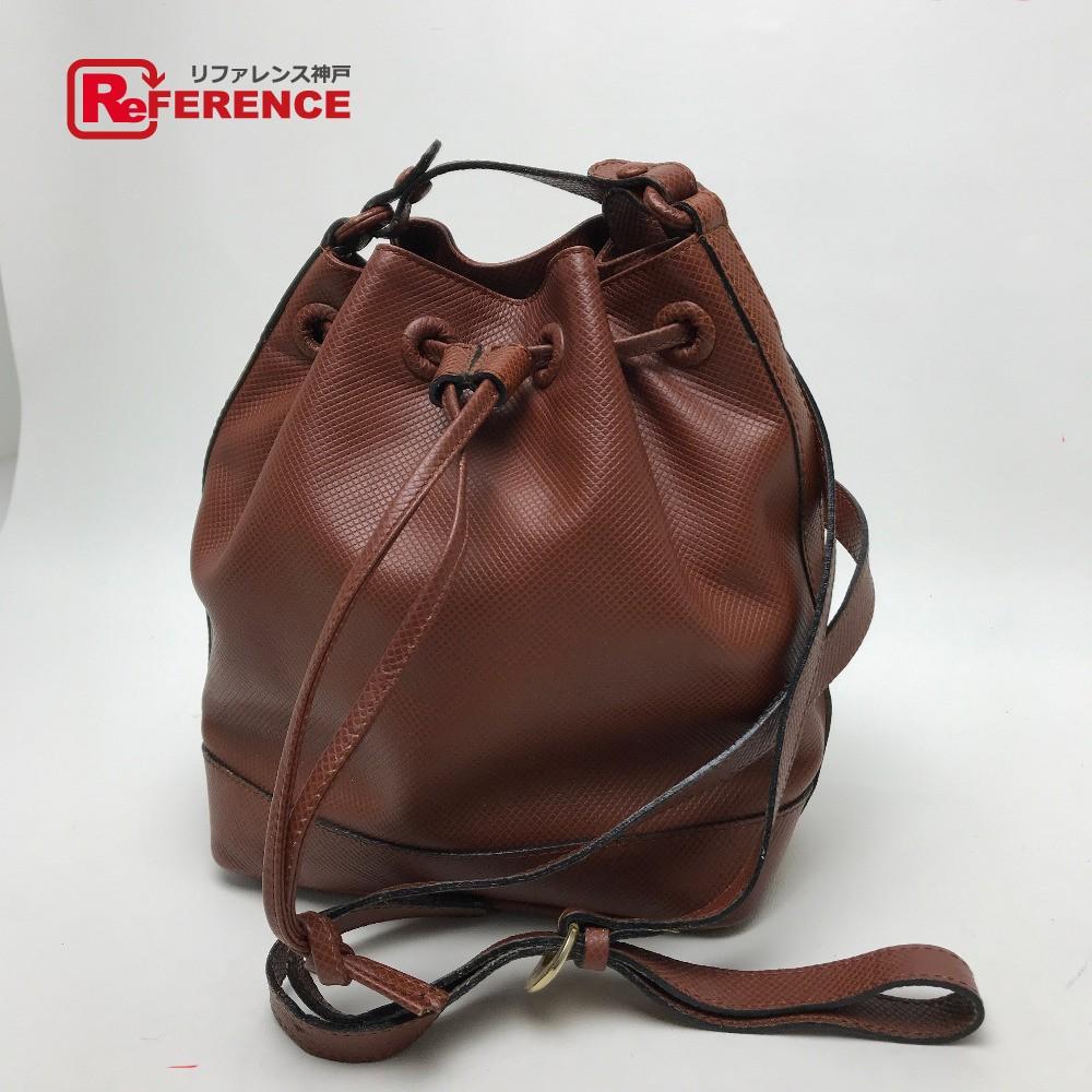 BOTTEGA VENETA ボッテガヴェネタ drawstring purse shoulder bag leather brown Lady s e6e631bbb0707