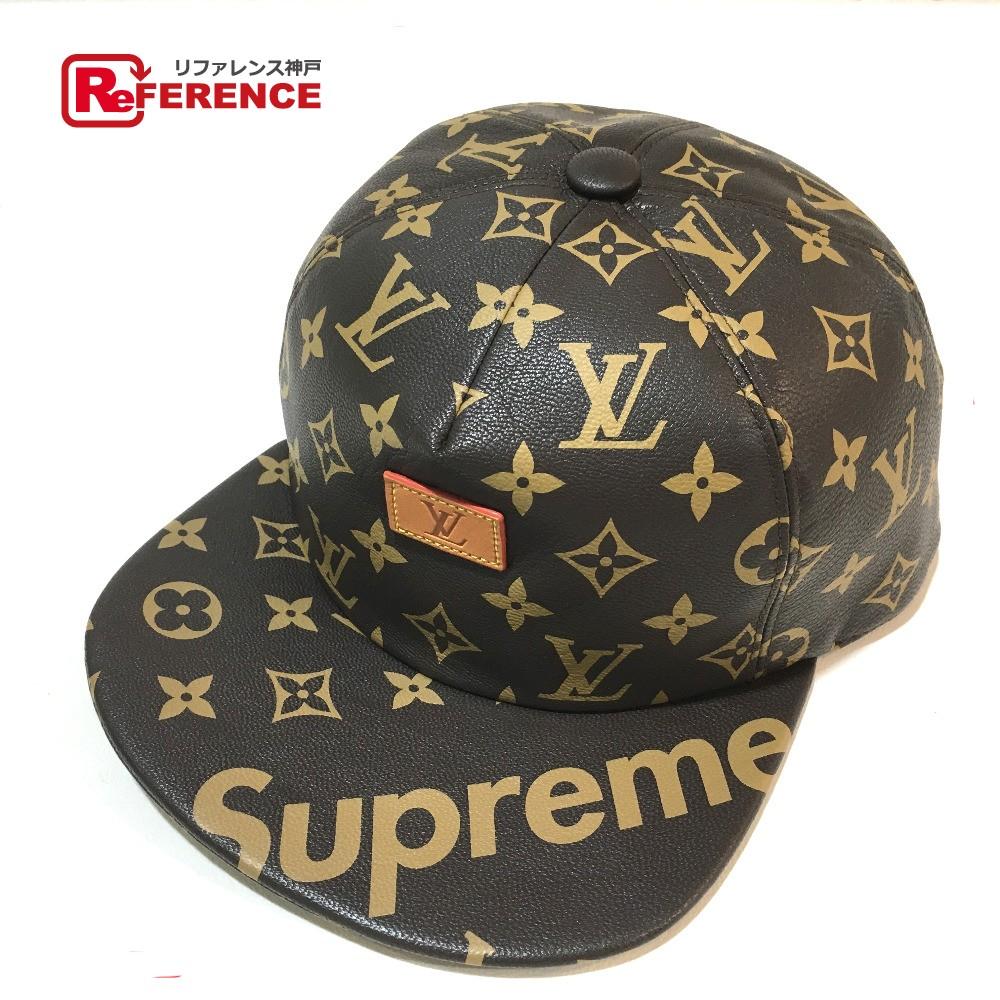 bad755c7 AUTHENTIC LOUIS VUITTON Monogram 17 AW STRAPBACK CAP LIGHT BROWN Cap Louis  Vuitton x Supreme hat ...