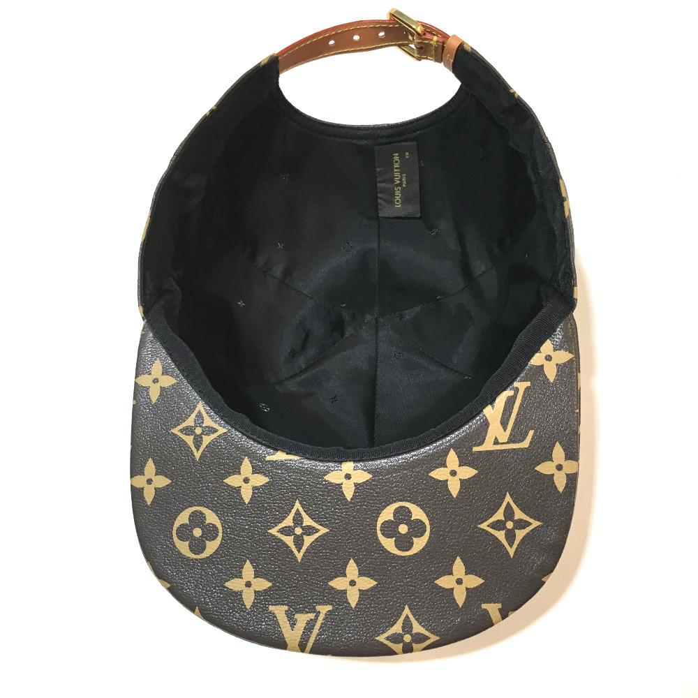 9a29b276f ... AUTHENTIC LOUIS VUITTON Monogram 17 AW STRAPBACK CAP LIGHT BROWN Cap  Louis Vuitton x Supreme hat ...