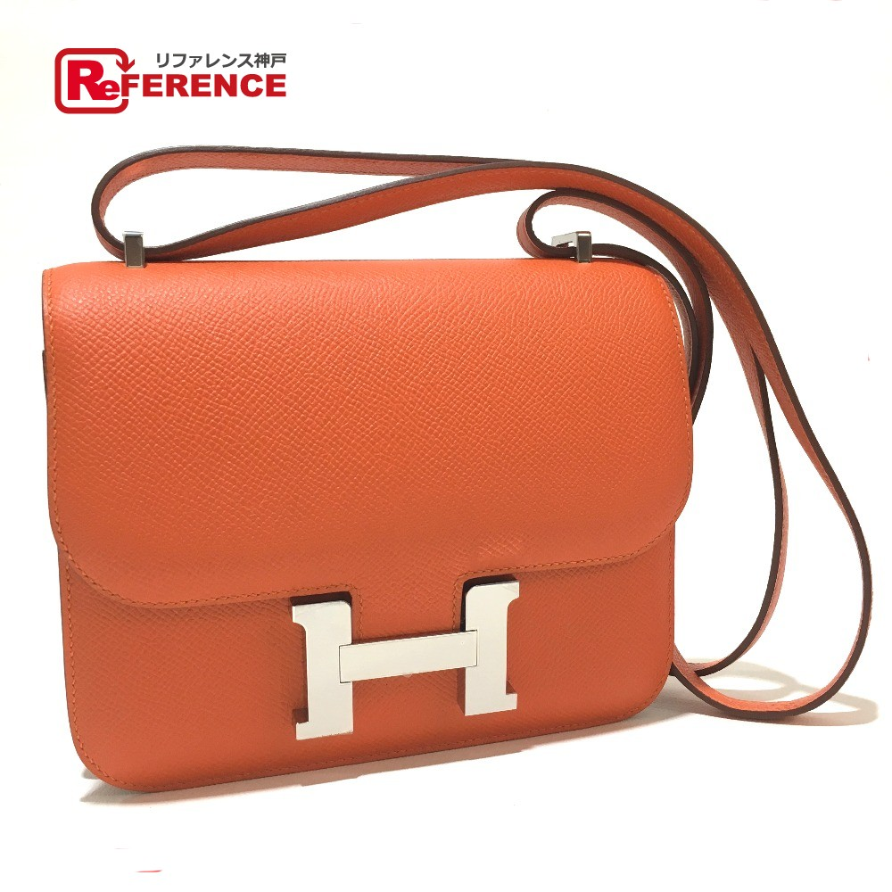 Authentic Hermes Constance Mini 3 Hhardware Shoulder Bag Silverhardware Epsom