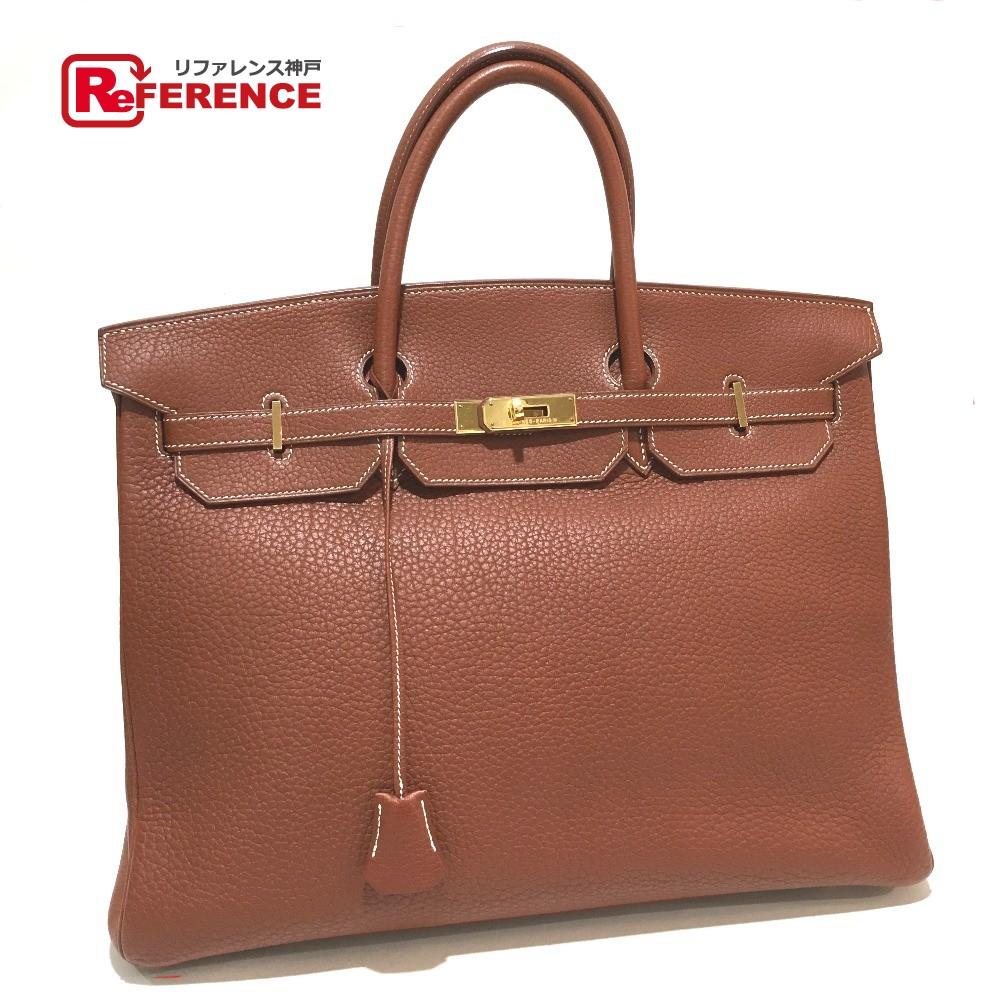 Authentic Hermes Duffle Bag Birkin 40 Men S Women Hand Goldhardware Fjord