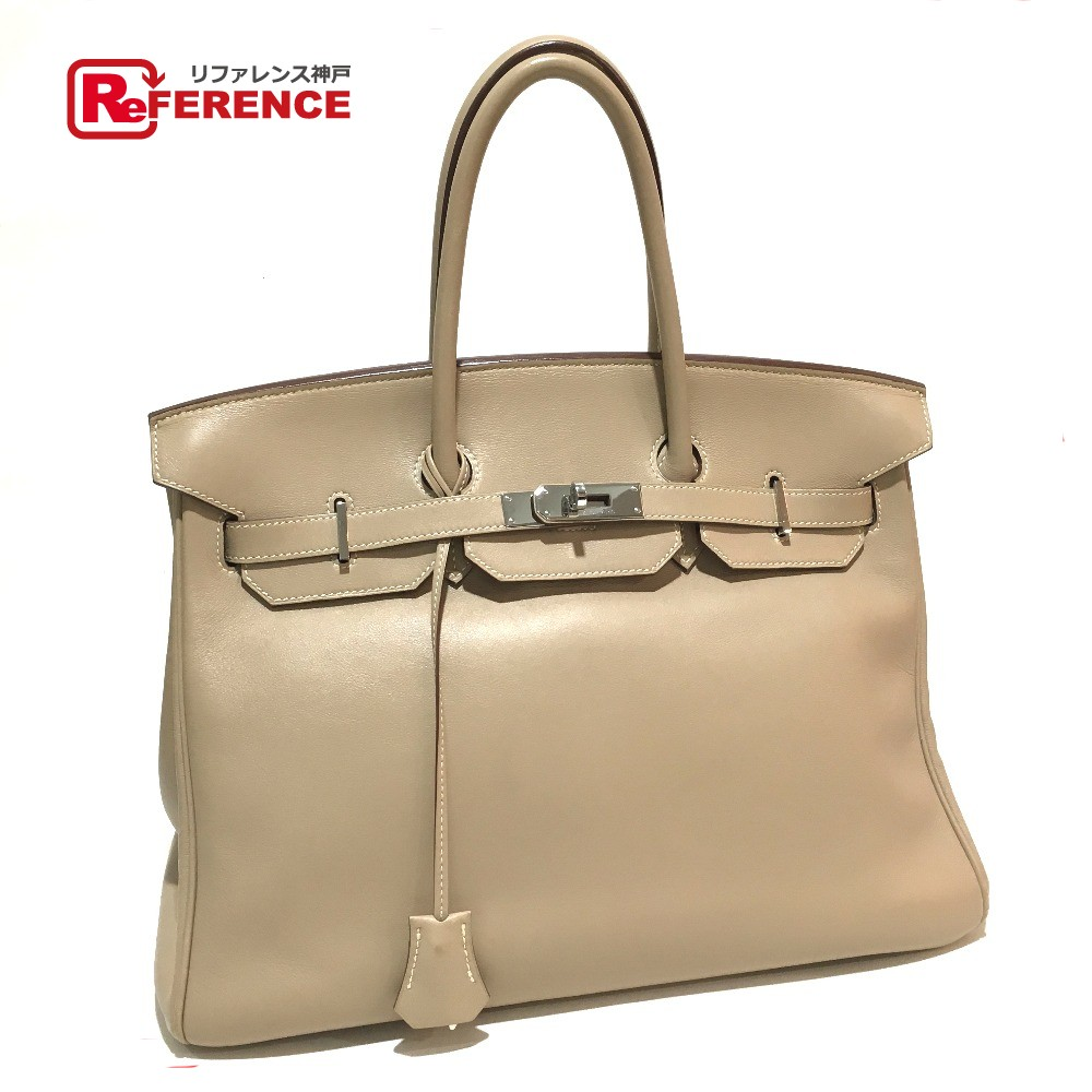 2fc439ee35 discount code for authentic hermes birkin 35 lstamp womens bag hand bag  silverhardware veauswift 506e3 08a56