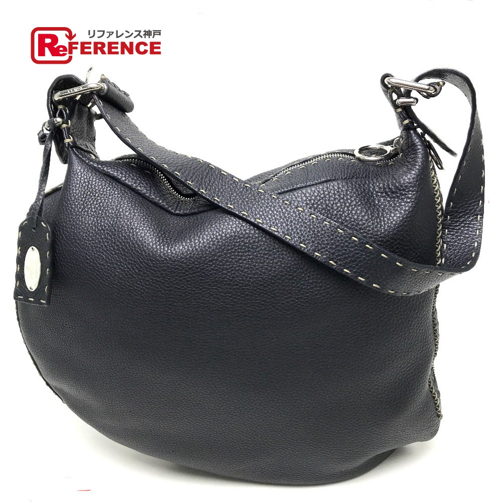 5d5f2d59571a BRANDSHOP REFERENCE  AUTHENTIC FENDI Selleria Shoulder Shoulder Bag  Shoulder Bag Black Leather