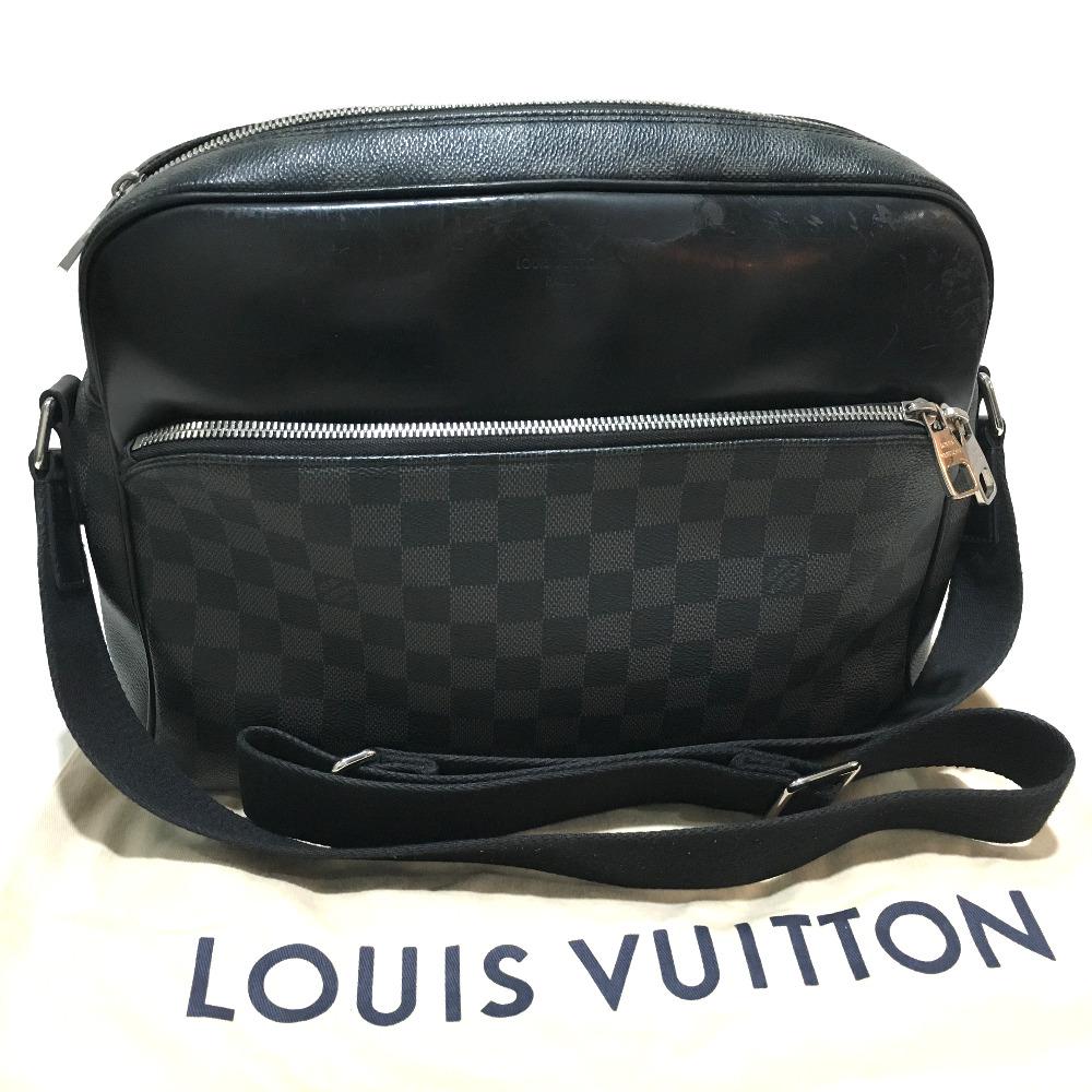 LOUIS VUITTON ルイヴィトンN41409 メッセンジャーバッグ デイトンMM ダミエ・グラフィット ショルダーバッグ ダミエグラフィットキャンバス ブラック メンズIvYby7gf6