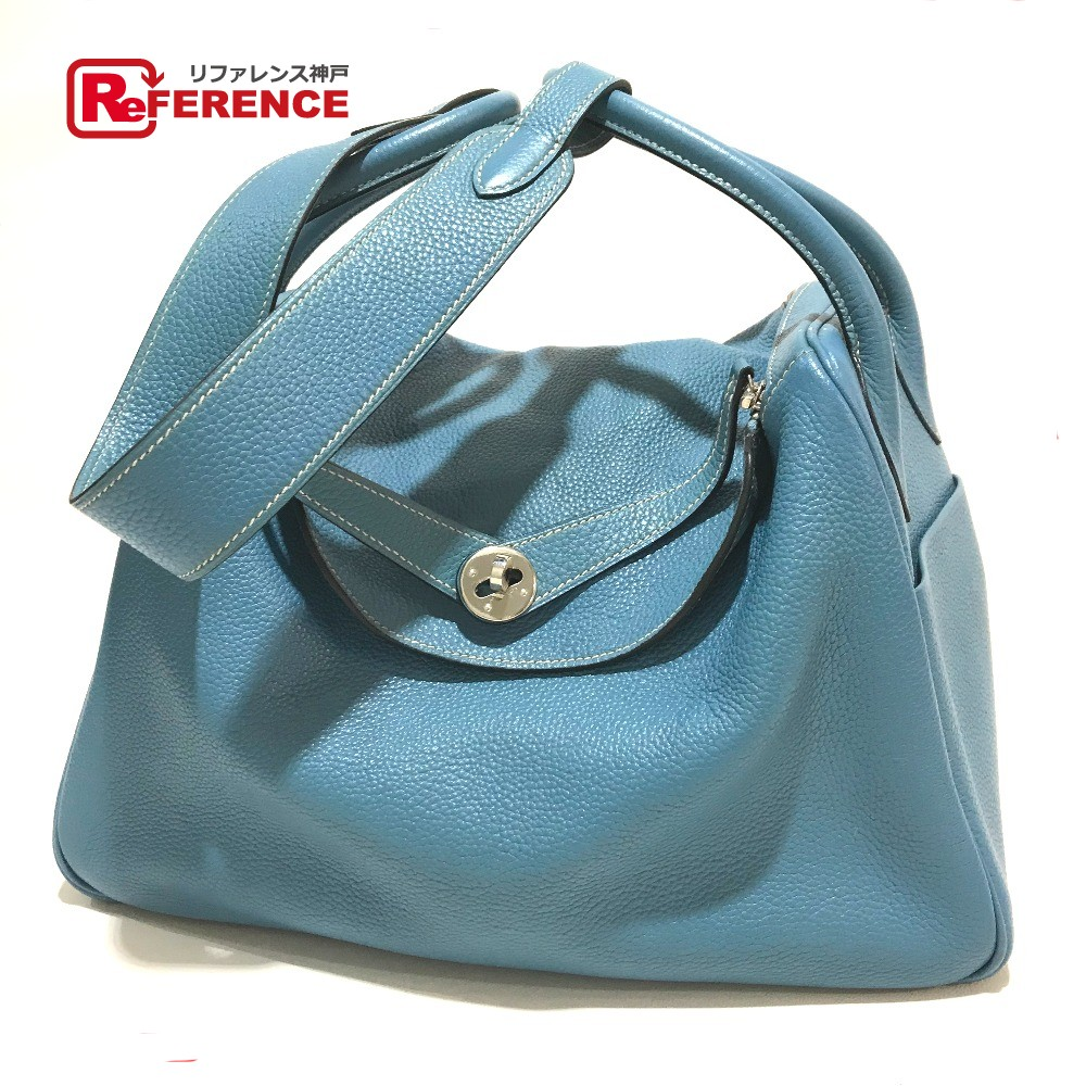 BRANDSHOP REFERENCE  AUTHENTIC HERMES Lindy 34 Hand Bag Shoulder Bag 2way  bag SilverHardware Taurillon Clemence  fa8520b8a259c