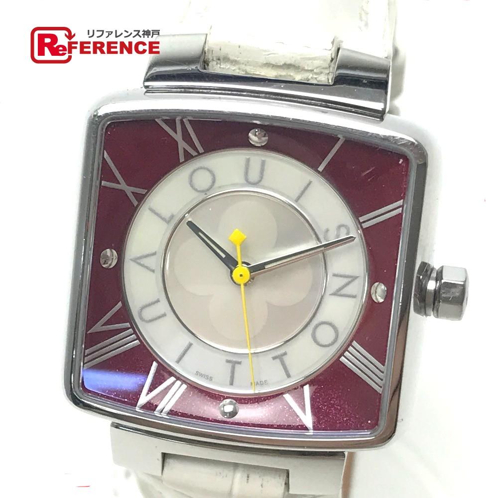 LOUIS VUITTON ルイ・ヴィトン Q221J レディース腕時計 マジックスピーディ 腕時計 SS/ホワイトアリゲーターベルト シルバー レディース【中古】